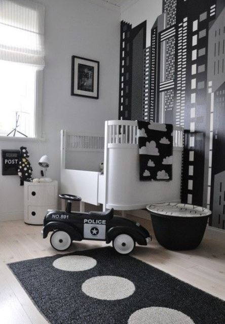 Black and white children's rooms ideas3