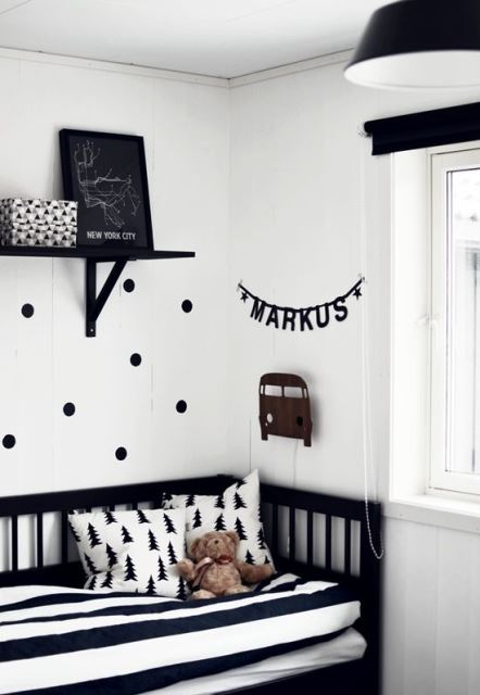Black and white children's rooms ideas6