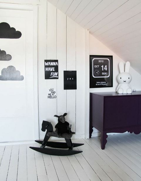 Black and white children's rooms ideas9