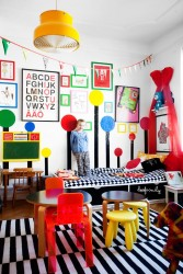 Kids rooms with color and pop details1