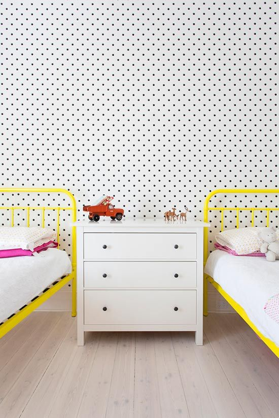 Kids rooms with color and pop details12