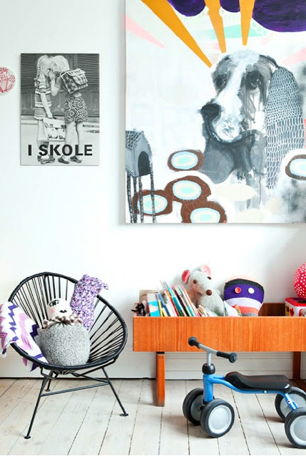 Kids rooms with color and pop details5