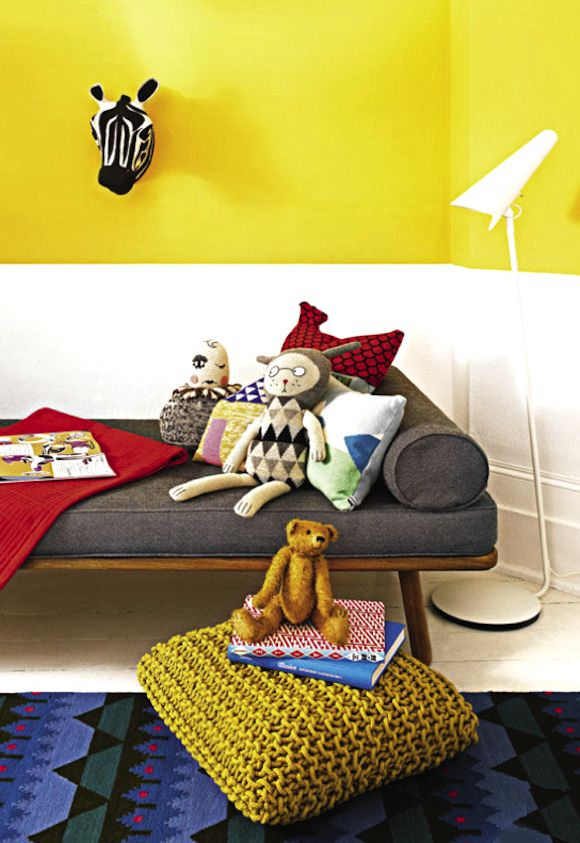 Kids rooms with color and pop details6