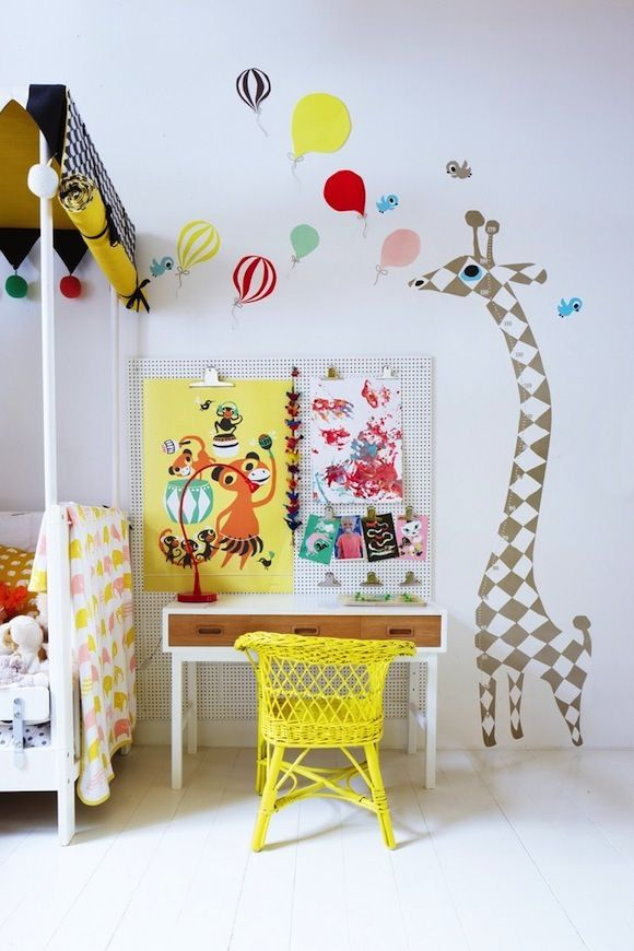 Kids rooms with color and pop details7