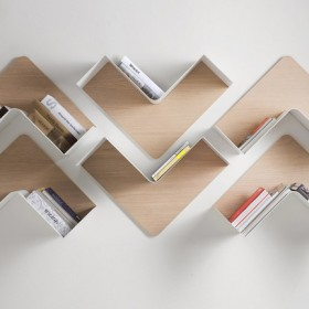 Creative Adaptable Shelving system - Fishbone1