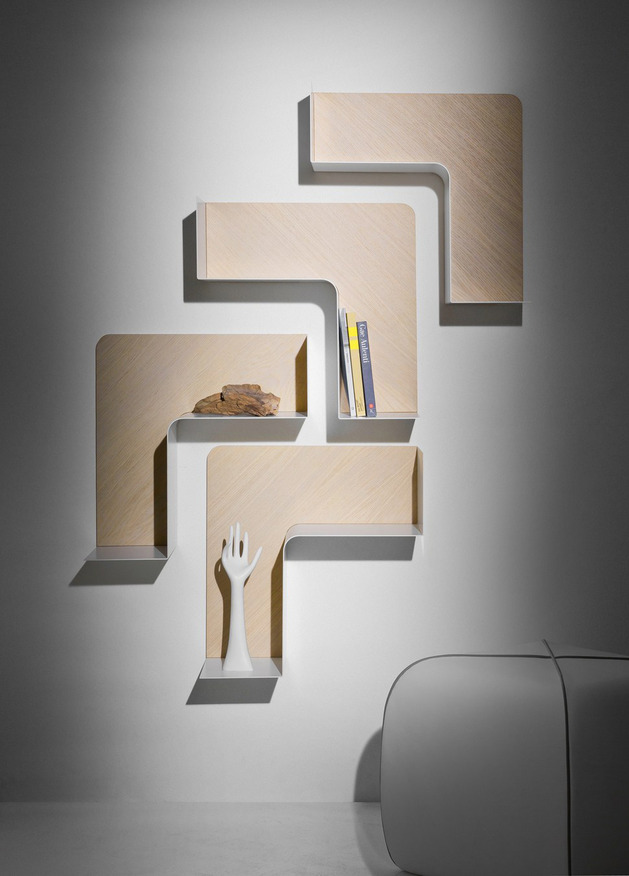 Creative Adaptable Shelving system - Fishbone2