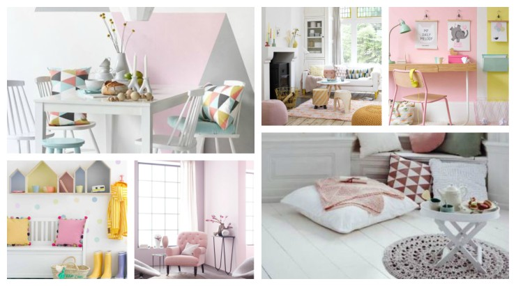 Decorations in pastel shades
