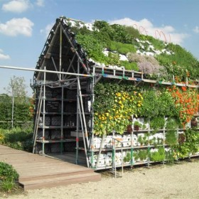 Eathouse A great idea of a garden in the form of a house1