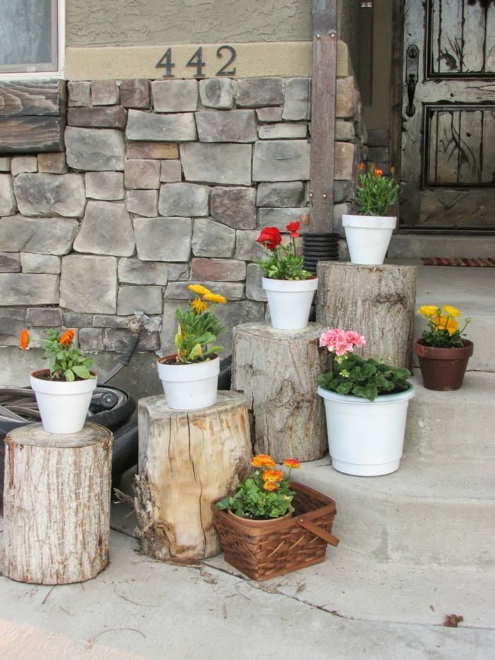 staircase pots decoration ideas3