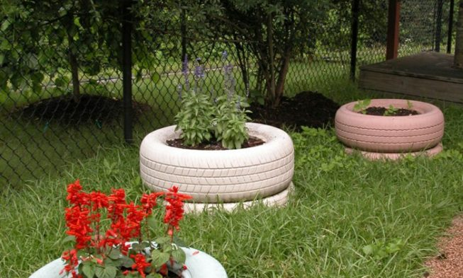 Creative Gardening Tips: Plant Containers From Old Car Tires
