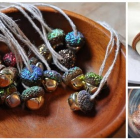 decorative autumn crafts with acorns