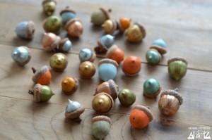 decorative autumn crafts with acorns4