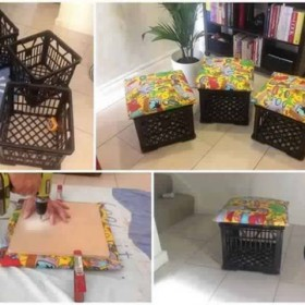 crafts with plastic crates