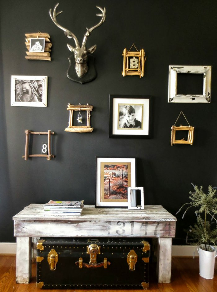wall decoration ideas in dark shades10