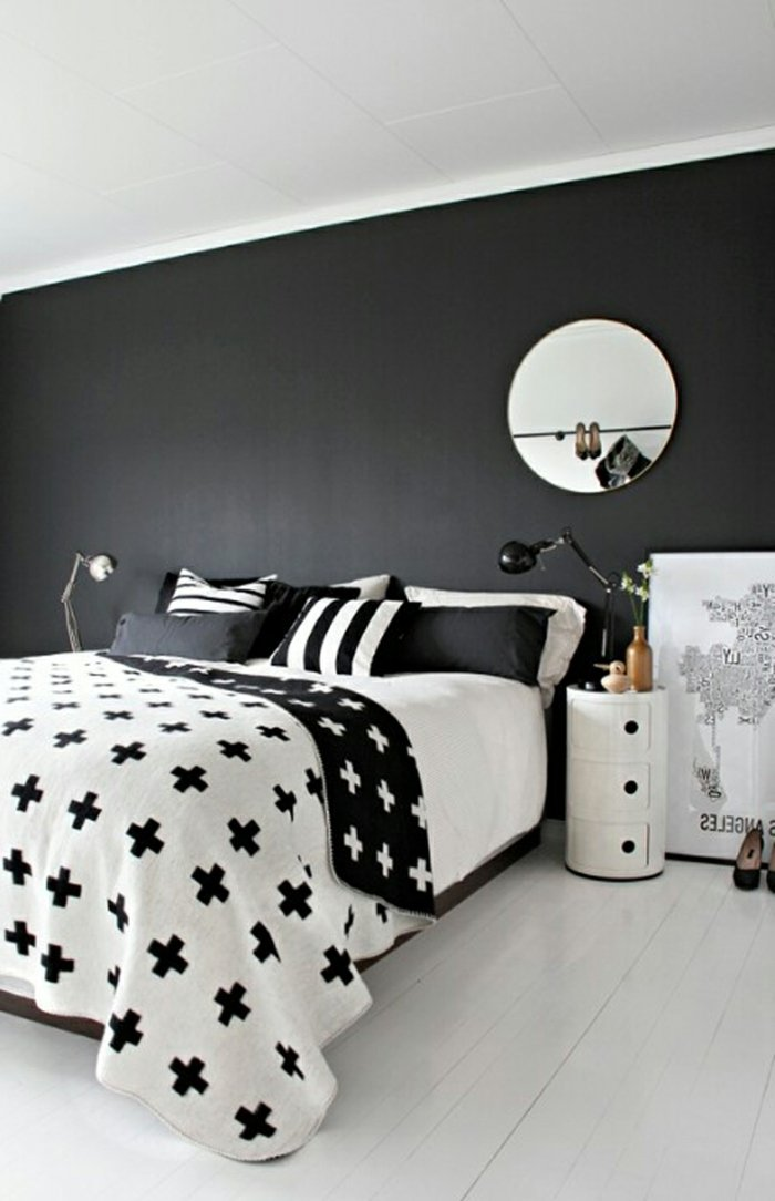 wall decoration ideas in dark shades49