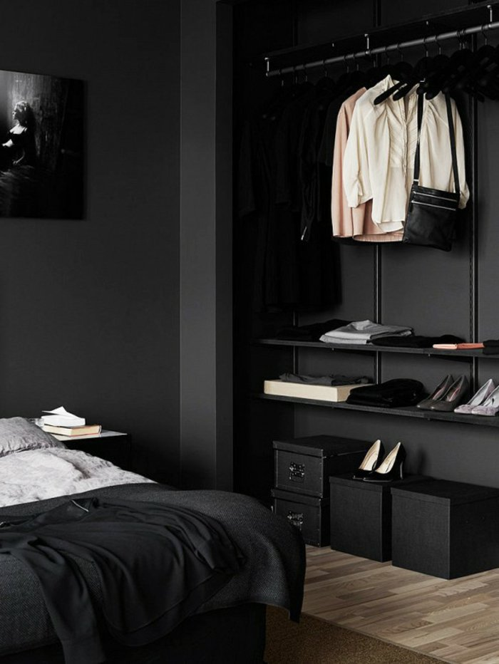 wall decoration ideas in dark shades9