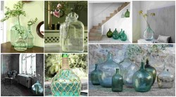 Demijohns in decoration