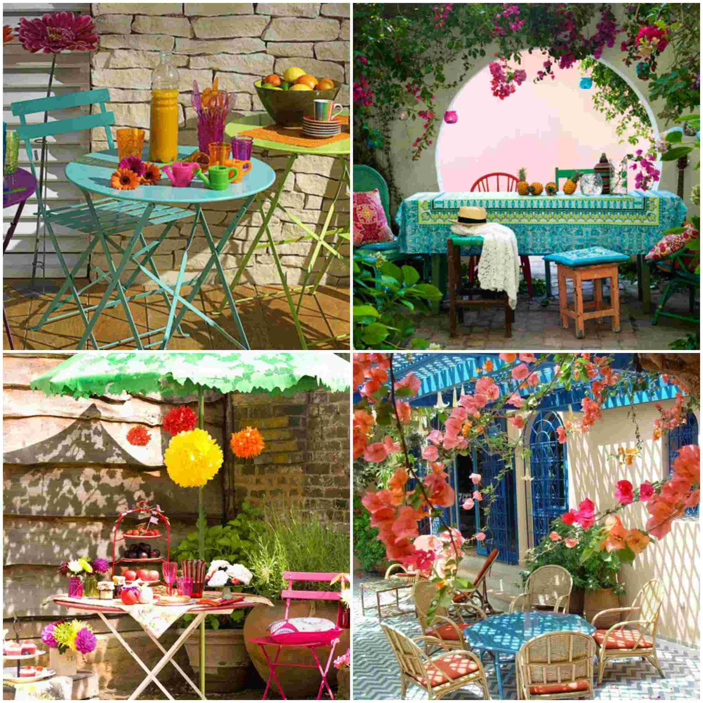 Great colorful floating umbrellas decoration in agueda for Garden decoration ideas