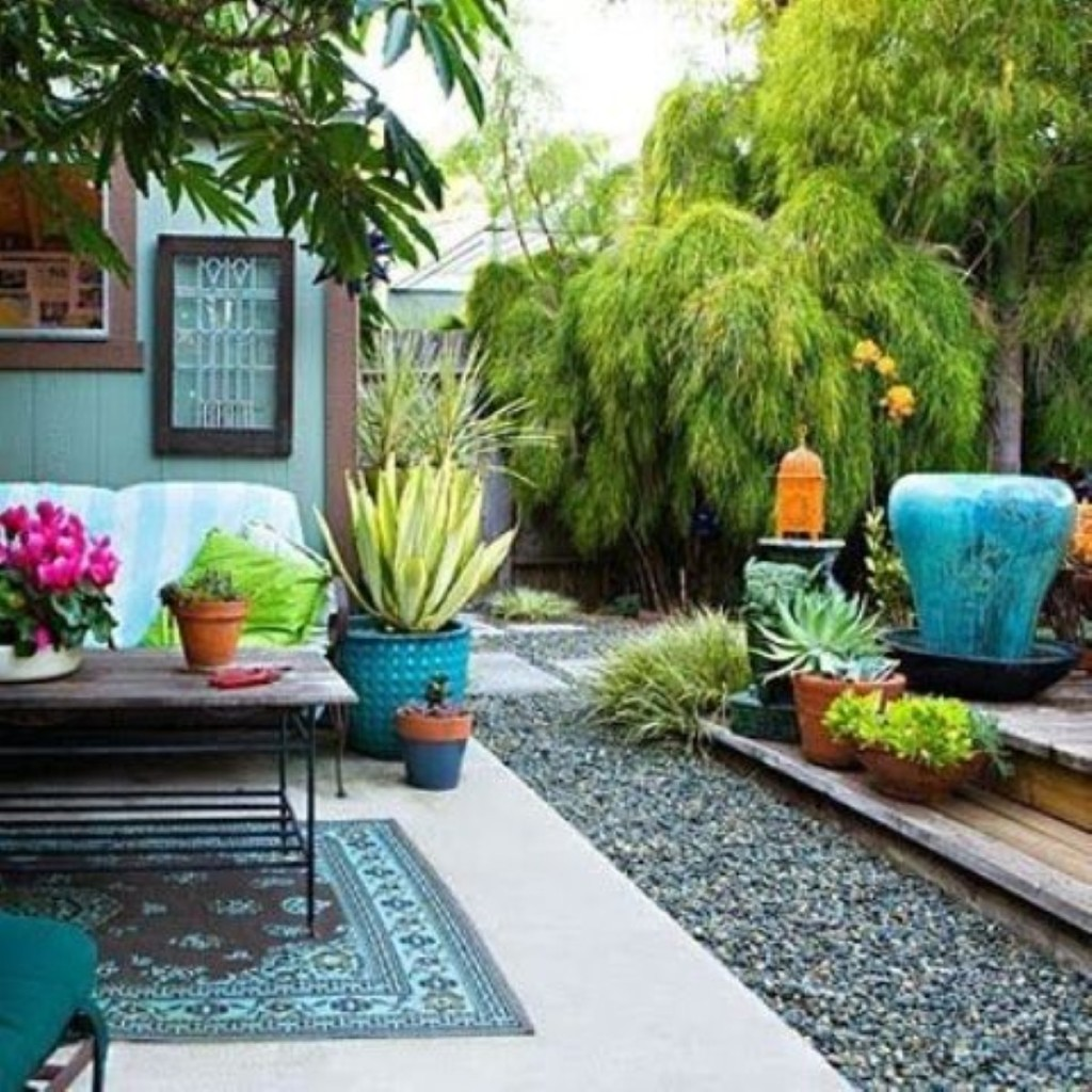 Colorful garden decoration for colorful landscaping | My ... on Colorful Patio Ideas id=83359