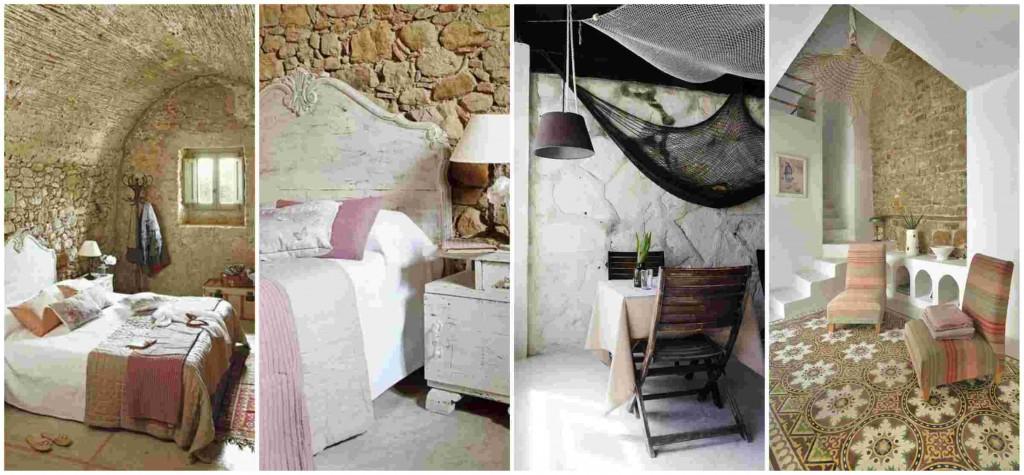 Exposed stone wall ideas