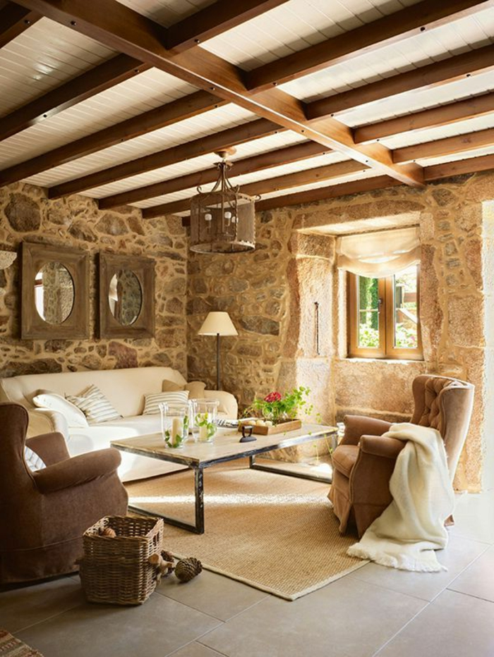 Exposed stone wall ideas11