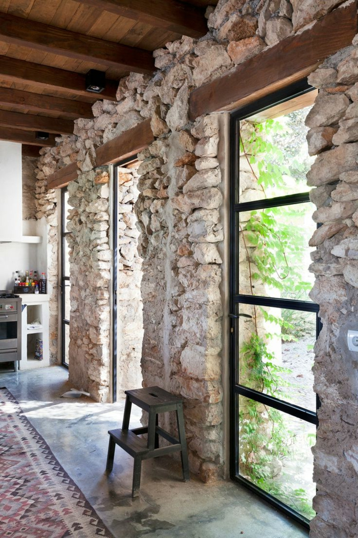 Exposed stone wall ideas18