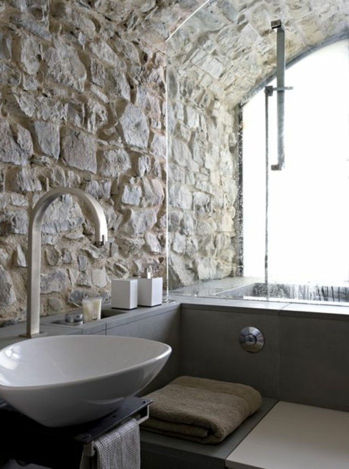 Exposed stone wall ideas23