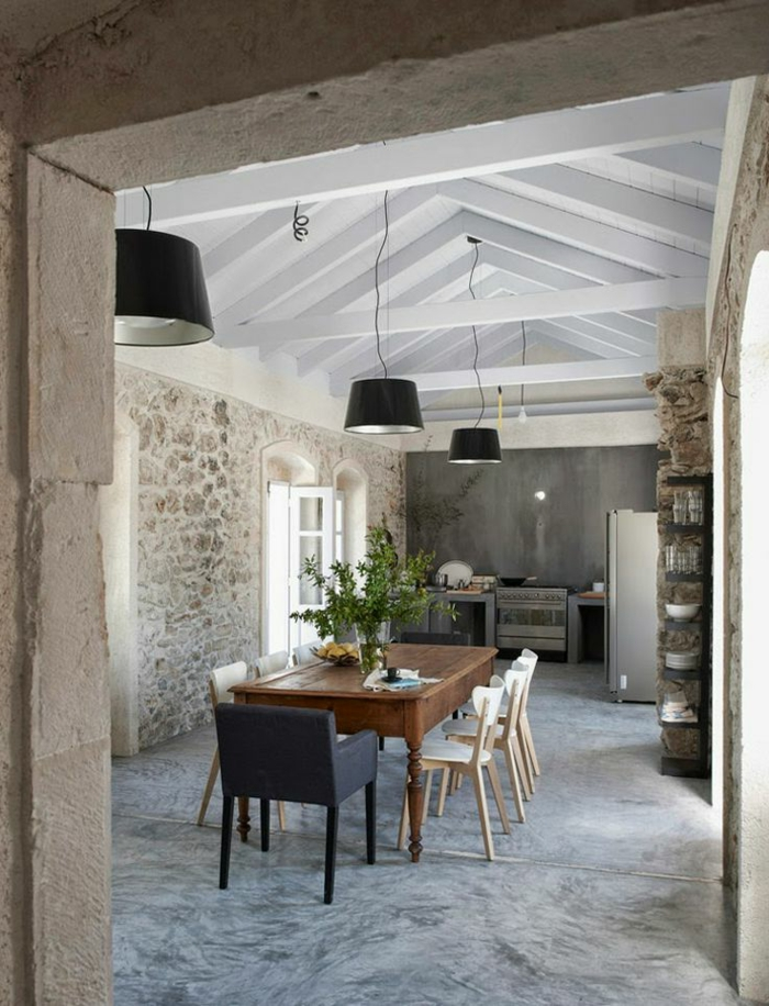 Exposed stone wall ideas24