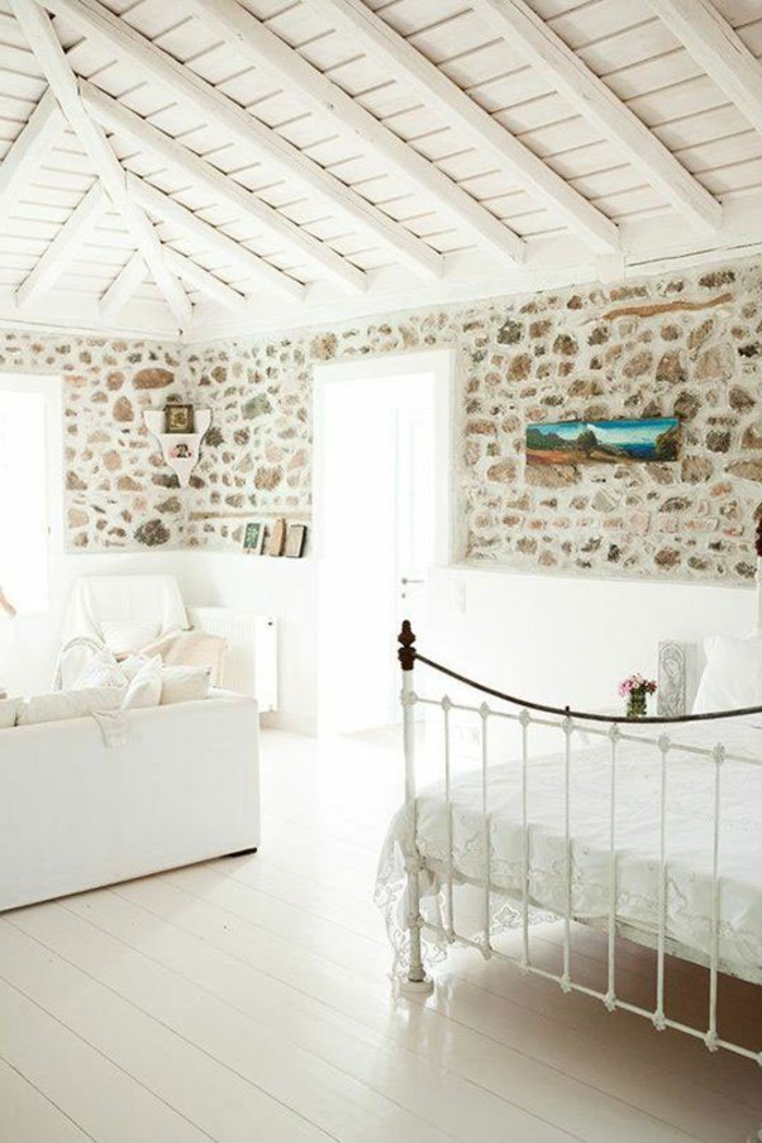 Exposed stone wall ideas28