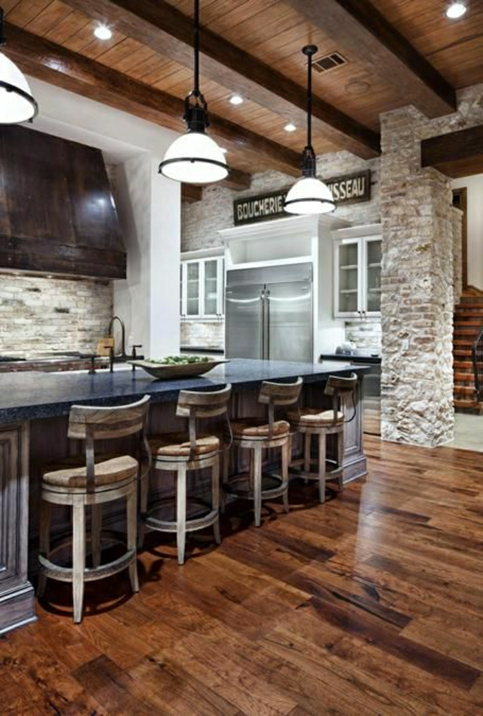 Exposed stone wall ideas29