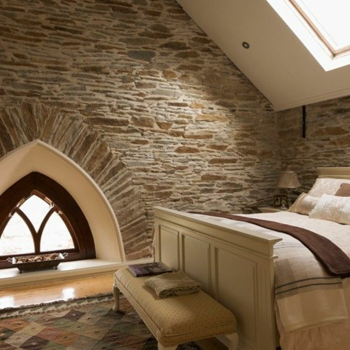 Exposed stone wall ideas34