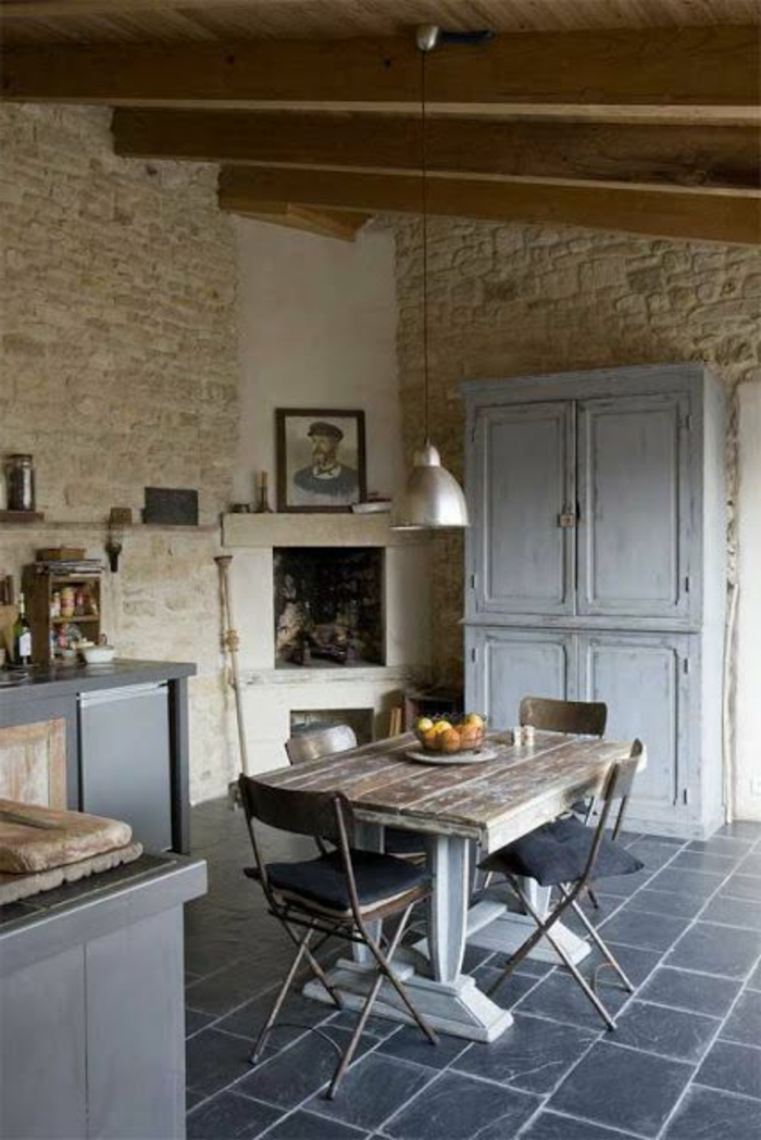 Exposed stone wall ideas37