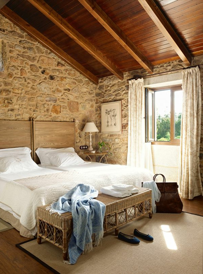 Exposed stone wall ideas45