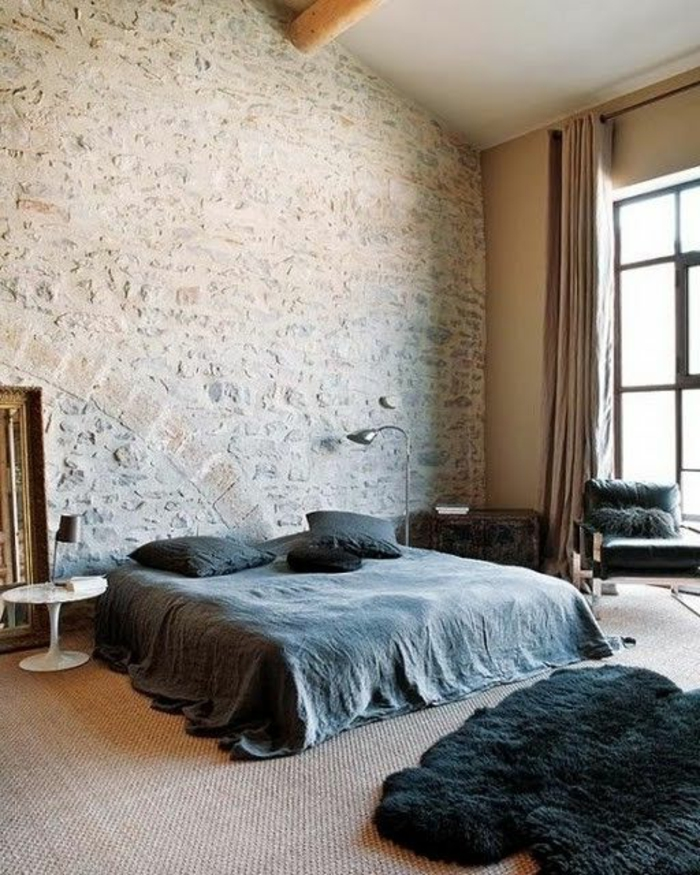 Exposed stone wall ideas46