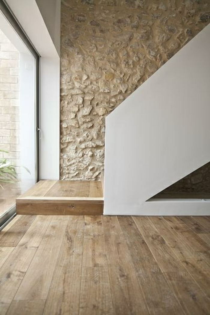 Exposed stone wall ideas47