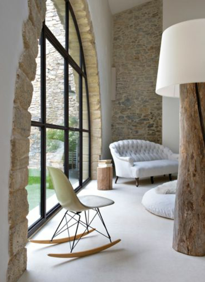 Exposed stone wall ideas48