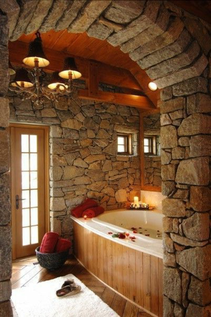 Exposed stone wall ideas51