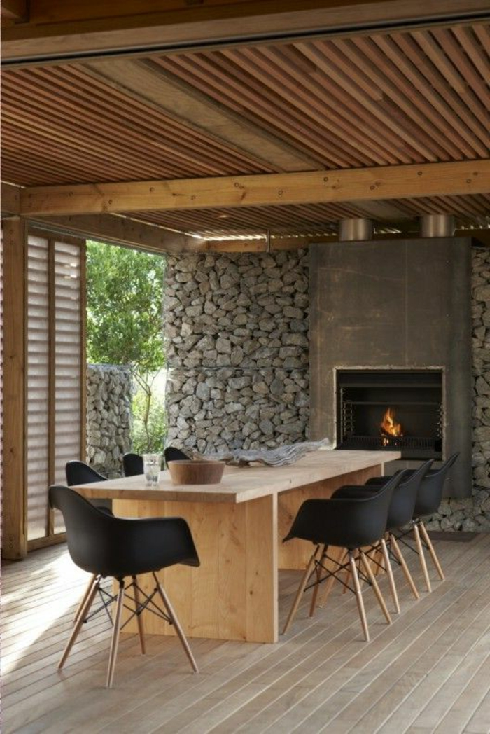 Exposed stone wall ideas54