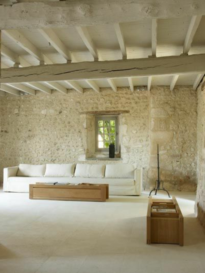 Exposed stone wall ideas56