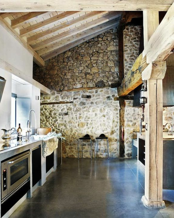 57 exposed stone wall ideas for a modern interior
