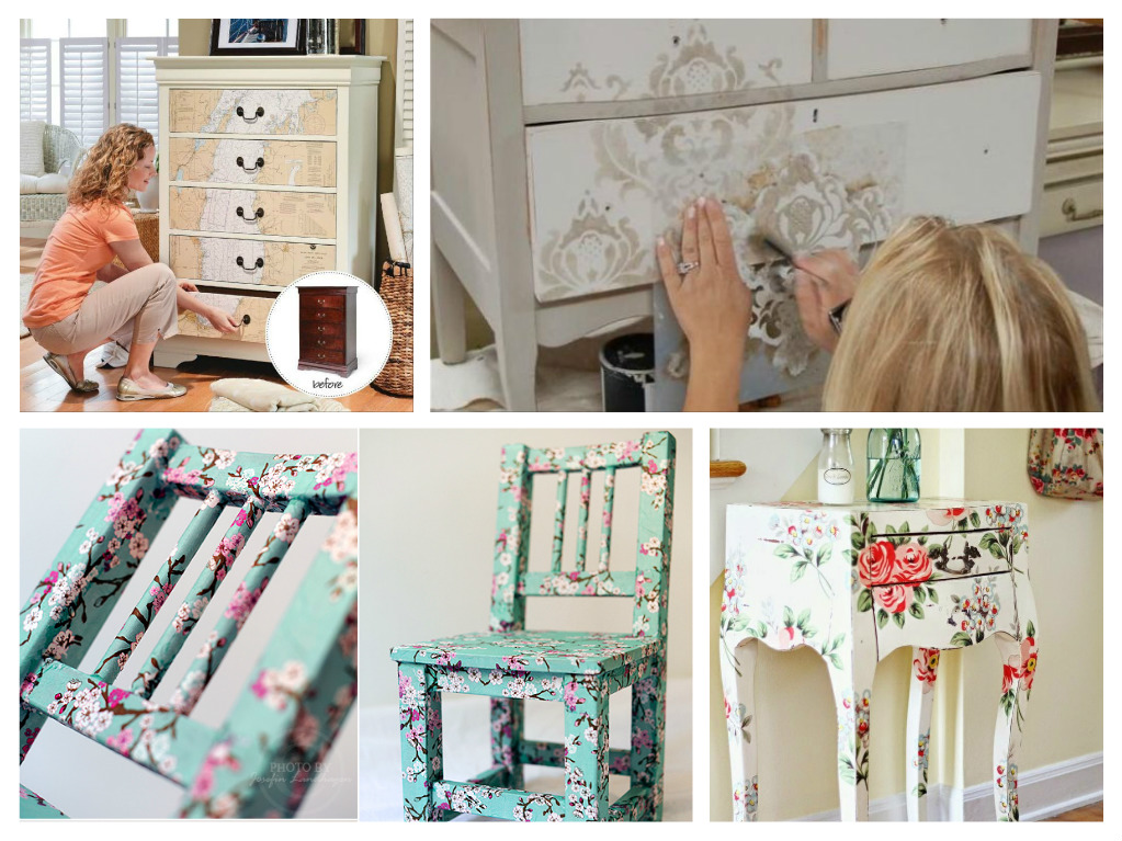 Furniture Decoupage ideas