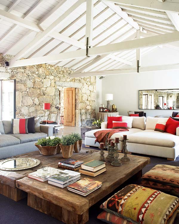 Stone house in a Bohemian Chic style2