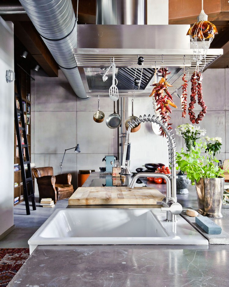 industrial kitchen ideas (23)