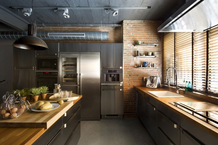 industrial kitchen ideas (31)