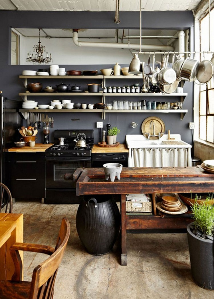 industrial kitchen ideas (35)