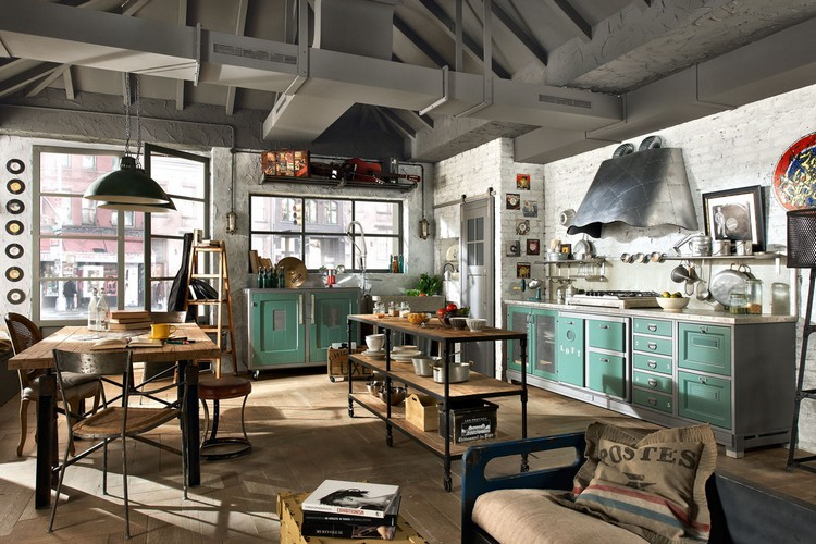 industrial kitchen ideas (41)