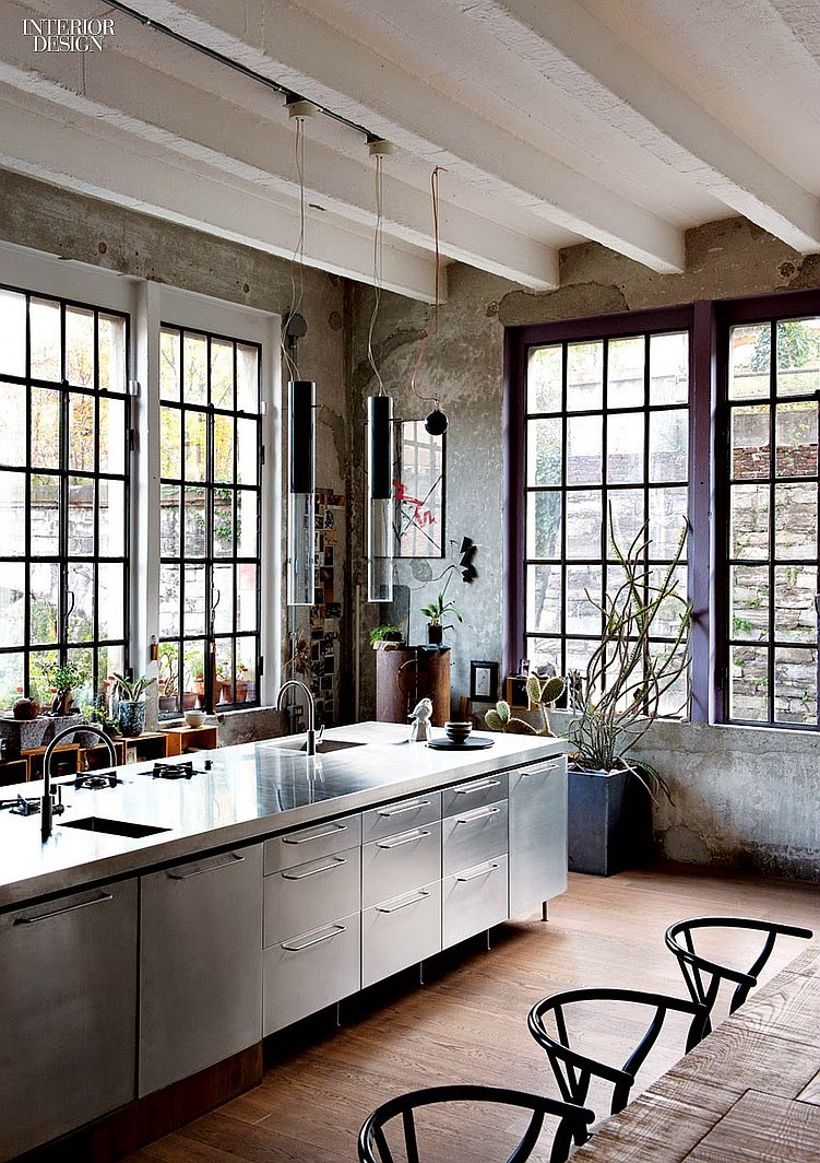 Industrial Looking Kitchen Modern Industrial Kitchen In 44 Awesome Photos My Desired Home