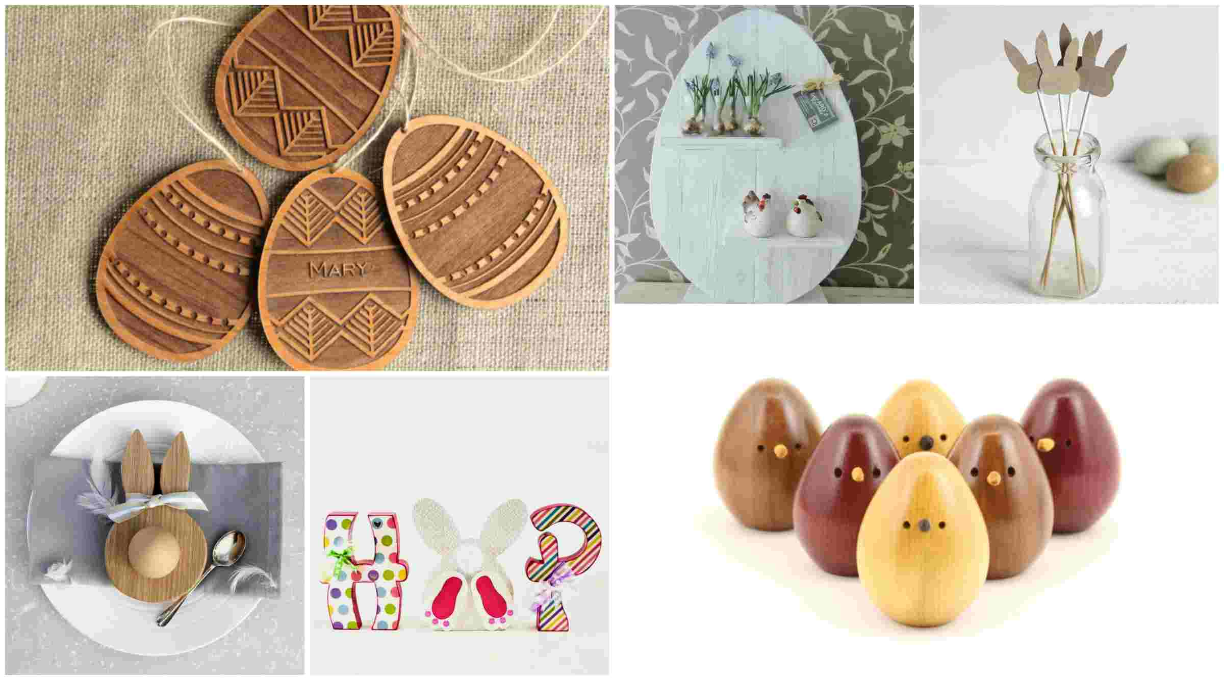 Easter decorations made of wood