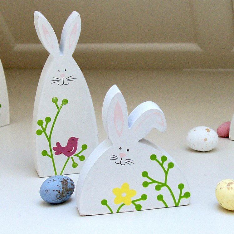 Easter decorations made of wood19