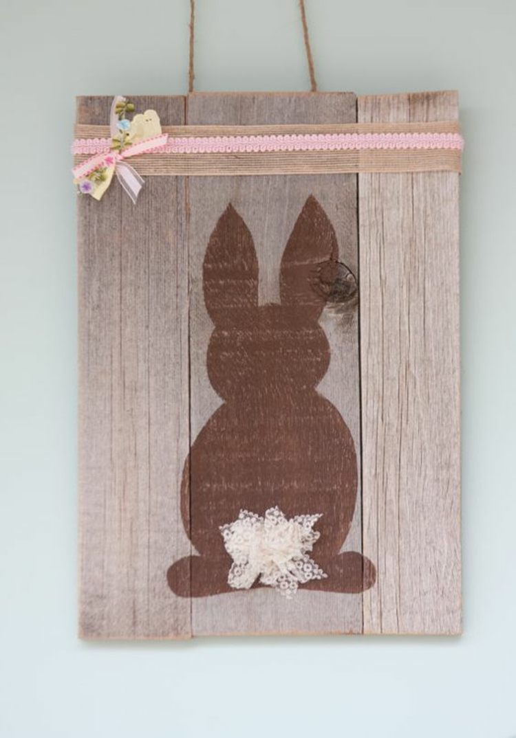 Wonderful easter decorations made of wood my desired home for Wooden art home decorations